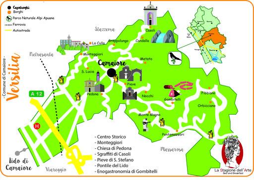 mappa del Comune di Camaiore