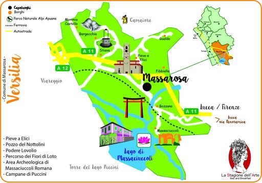 Mappa del Comune di Massarosa