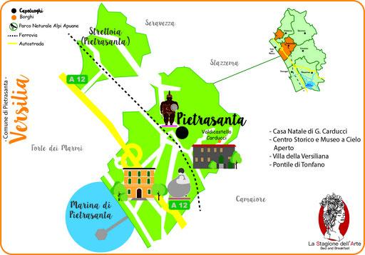 Mappa del Comune di Pietrasanta