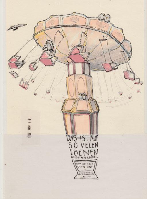 Debützeichnung für das Konzept Zeichenkritiken im Blog zum Berliner Theatertreffen 2013
