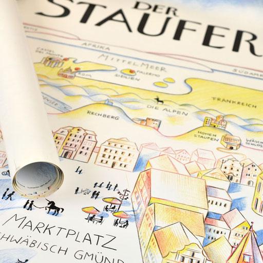 © Illustration für Stadt Schwäbisch Gmünd im Auftrag der Eberle GmbH Werbeagentur GWA