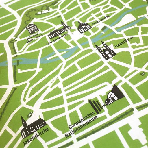 © Illustration für die Museen der Stadt Nürnberg (Kartografie: Janina Baumbauer)
