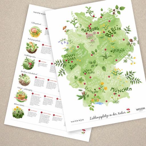 © Illustration und Gestaltung für wasfürmich / André und Claudia Schaumann Family-Blog in Kooperation mit Weleda AG Schwäbisch Gmünd