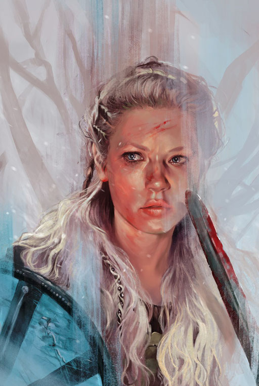 """Lagertha"" - Variant Cover for Vikings: Uprising #1 by Titan Comics. © 2016 Metro-Goldwyn-Mayer Studios Inc. All Rights Reserved."
