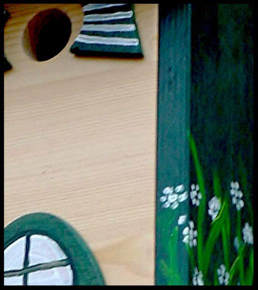 Nestkastje Plat dak,detail,vogelhuisjes en nestkastjes met toevoegingen