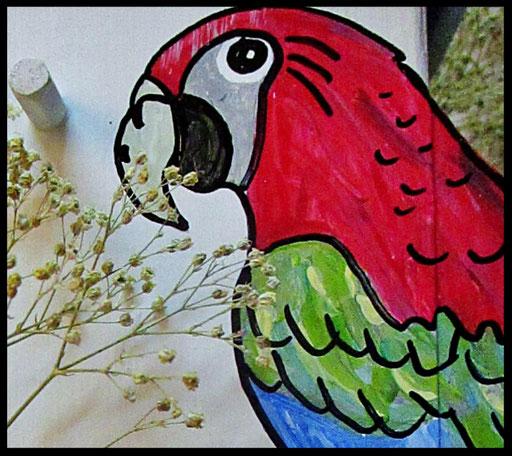 Nestkastje Papegaai,detail,vogelhuisjes en nestkastjes met toevoegingen