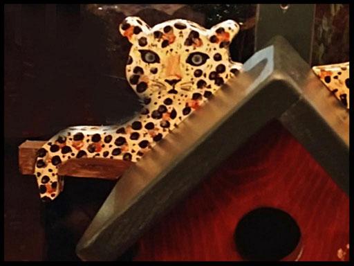 Nestkastje Luipaard,detail,vogelhuisjes en nestkastjes met toevoegingen (1)