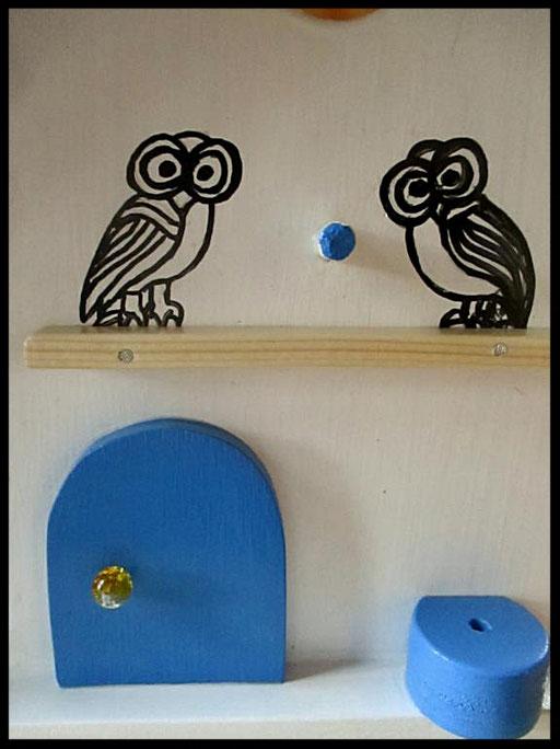 Nestkastje Uilen,detail,vogelhuisjes en nestkastjes met toevoegingen