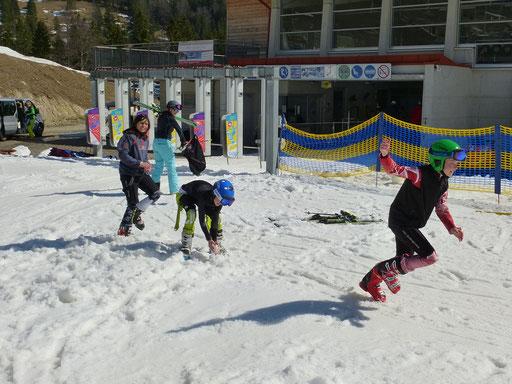 SV DJK Heufeld Skiteam Vereinsmeisterschaft 2019 Schneeballschlacht am Waldkopflift.