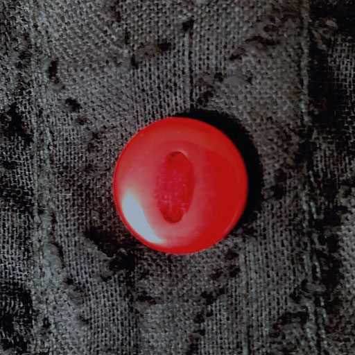 Red Buttons on Black Tiger Natural Cotton