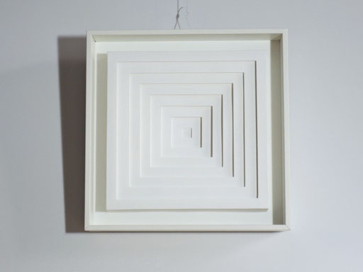 PAPIER-art ART-papier, Wandbild aus Papier, weiß, Kunstobjekt, Harald Metzler, Mattsee, Österreich