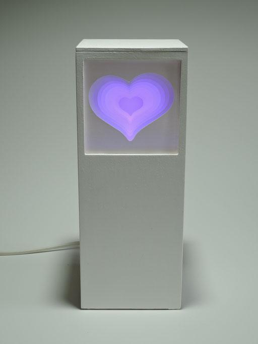 Herz mit LED-Licht