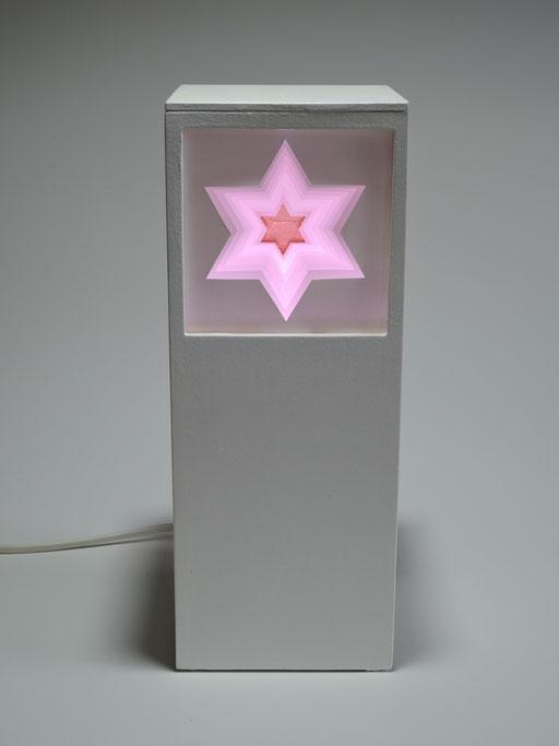 Hexagramm mit LED-Licht