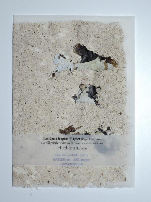 Karte Flechte auf Glyzinie-/Abakapapier