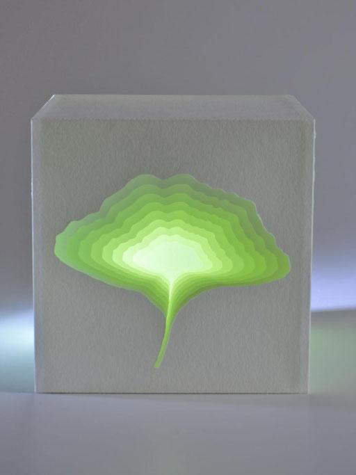 """Ginkgoblatt"" - 10x10 cm"