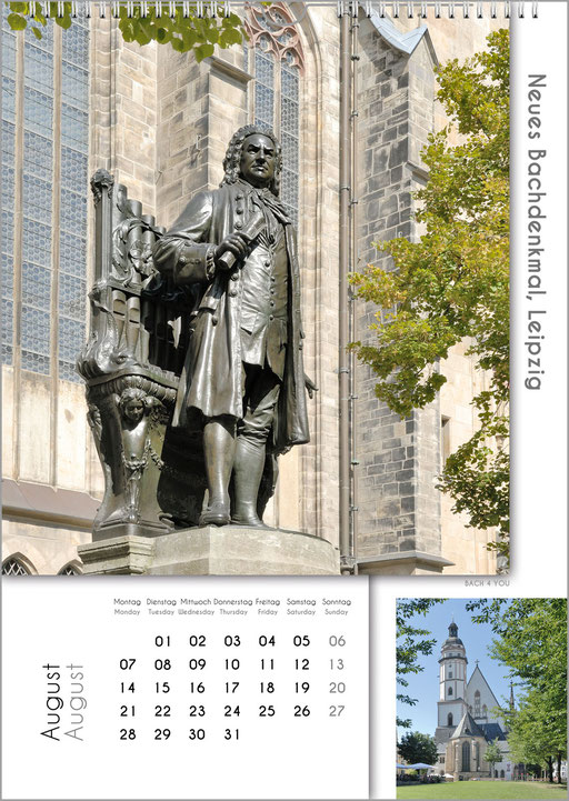 Bach-Monuments ... Bach Calendars Are Music Calendars and Music Gifts.