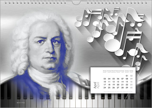 Bach Calendars Are Music Calendars and Music Gifts.