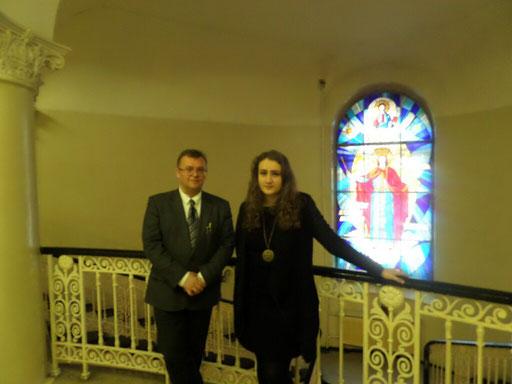 Участница из Казахстана Злада Добровольская и арт-директор Дмитрий Щирин