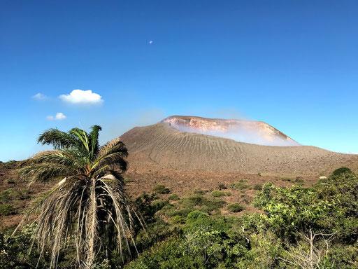 Vue du cráter du volcán