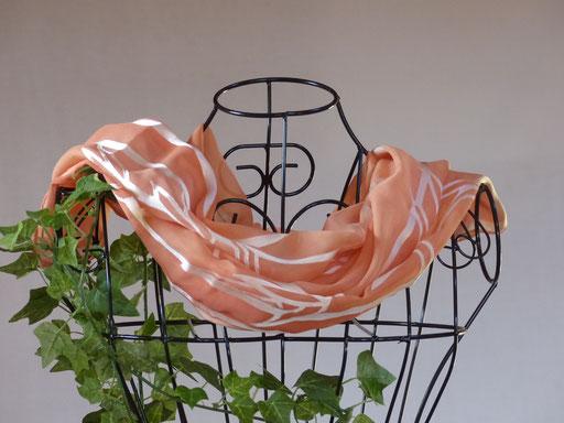 pflanzengefärbter Schal-BAMBUS