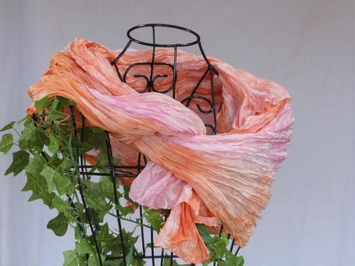 pflanzengefärbter Schal-CLEMENTINA