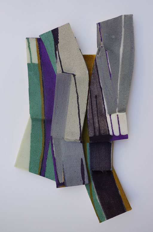 2018, Relief, Acryl, Leim auf Schaumstoff,48x29x5cm