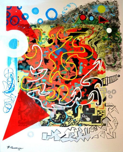 Verso l'amore  -   tecnica mista su tela  -digitale.acrilici.smalti - 2012