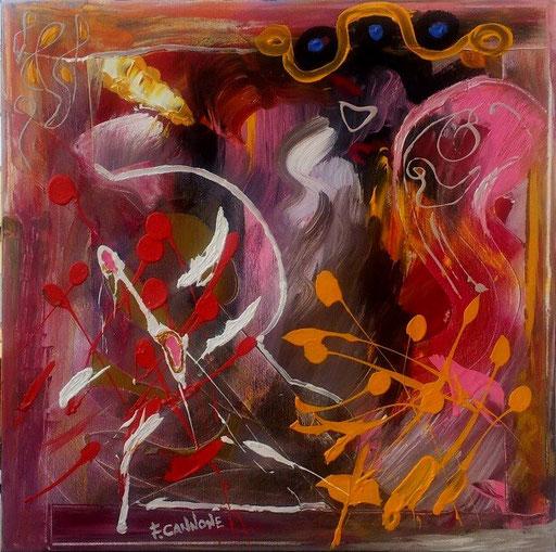 Marisa   -  Acrilico su tela 58x58x4  (2012)             Francesco Cannone