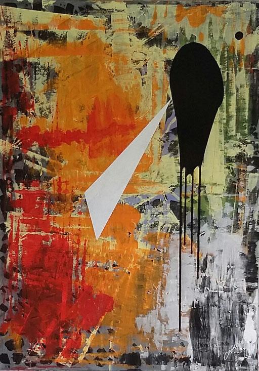La forza dell'amore  tecnica mista su tela  98x138    2014              Francesco Cannone