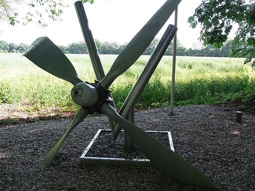 Propeller eines abgestürzten Alliierten-Flugzeuges