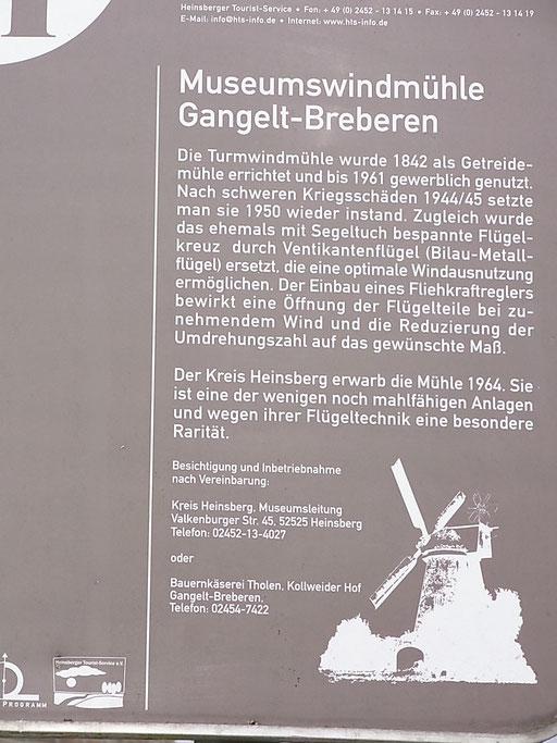 Tafel/ Erklärung zur Berberner Mühle