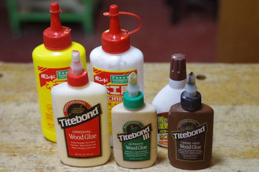木工用接着剤各種 指導料なし 普通、速乾、液体にかわ 無料でお使い頂けます