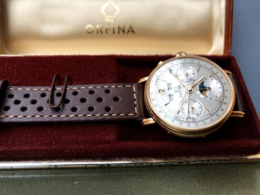 Orfina Valjoux  Kaliber 88 Gold Chronograph