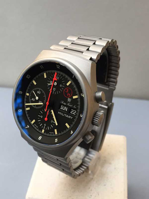 PWI Chronograph Military 3 H Stahl