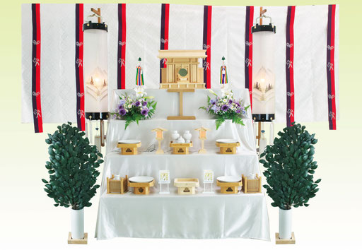 こちらがレンタルでお届けする祭壇です
