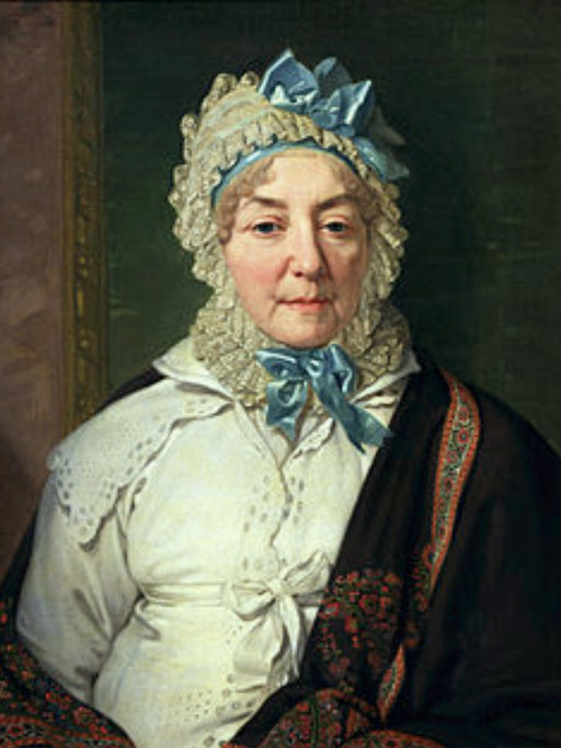 Екатерина Римская-Корсакова. Портрет работы Боровиковского, 1820 год