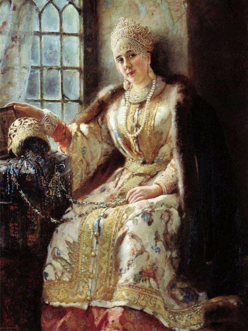 Боярыня у окна. 1885. К. Маковский