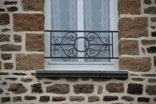 Garde-corps fenêtres acier galvanisé thermolaqué