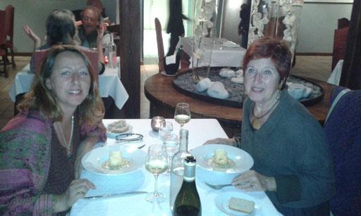mit Regine schön auswärts essen im Bourgchateau in Louhans