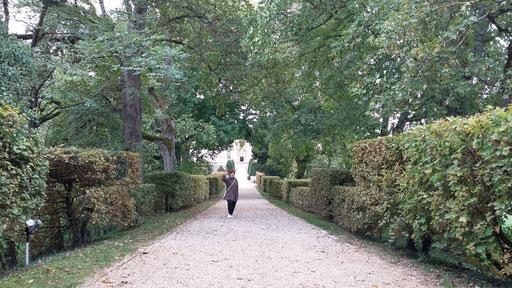 Besuch der Gärten von Schloss Cormatin - ein Traum von Wegen für Regine
