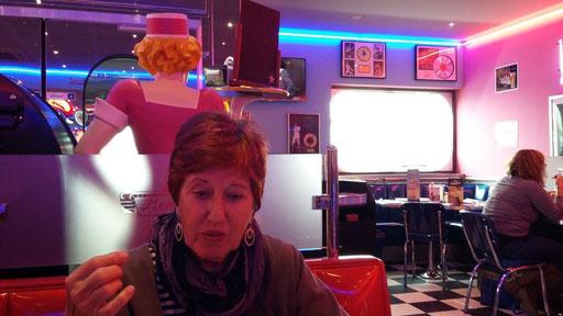 mit Regine im Café Memphis in Macon