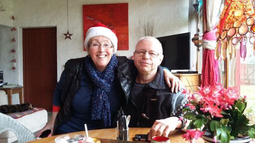 Silvia und René freuen sich unbändig über ihren ersten Aufenthalt in der Cabane