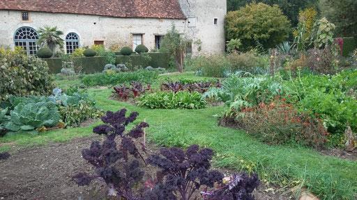Der Gemüsegarten von Chateau Cormatin