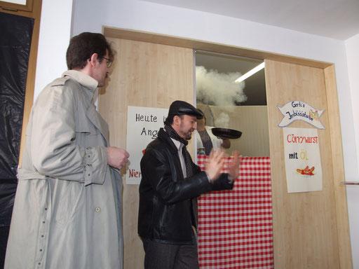 Szene der Theatergruppe