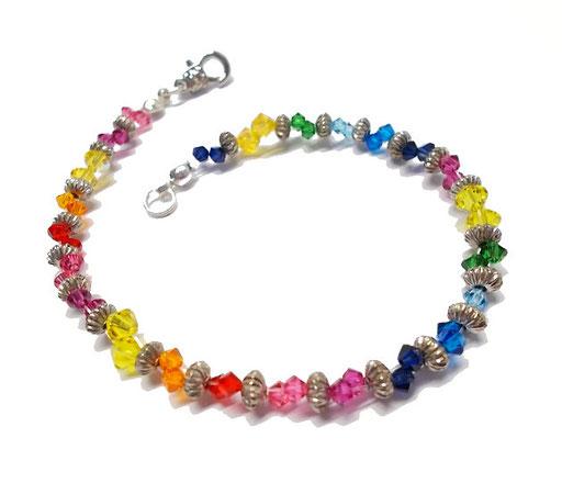 Armband Regenbogen Kristalle glitzernd