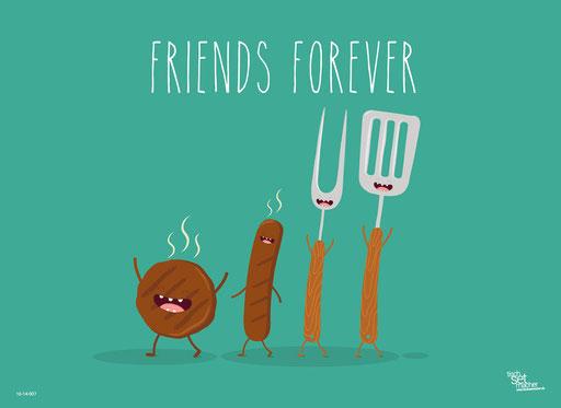 """Würstchen Friends Forever"" SKU: 16_14_007"