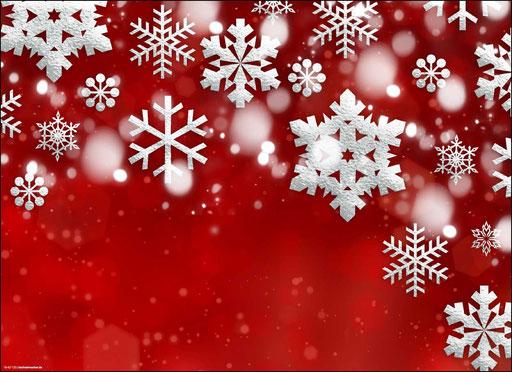"""""""Weihnachtsmotiv in rot-weiß mit Schneekristallen"""" SKU: 18_42_120"""