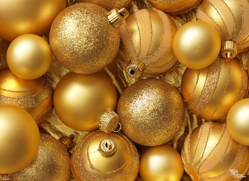 """Goldene Weihnachtskugeln (2)"" SKU: 16_42_041"