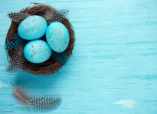"""""""Osternest mit blau gefärbten Eiern"""" SKU: 16_28_015"""