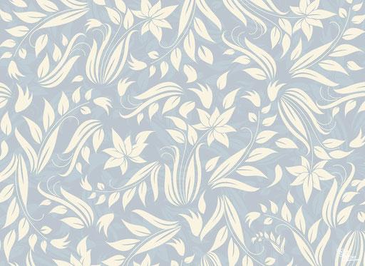 """""""Creme/blaue Blumen"""" SKU: 16_23_022"""